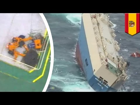 Sinking ship: Spanish coast guard rescues freighter, Modern Express, off coast of Spain - TomoNews