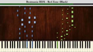 Synthesia: Beatmania IIDX - Red Zone Black | 2 Hands Playable | Piano Tutorial