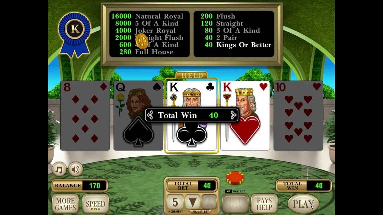 Draw poker vlt