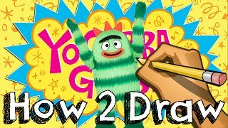 How To Draw Brobee From Yo Gabba Gabba | Drawing & Coloring & Learning | JUNIORS TOONS
