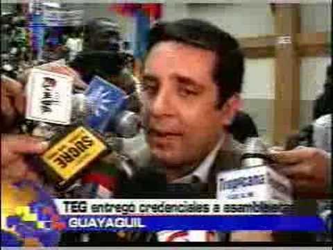 TEG entregó credenciales a asambleistas Guayaquil