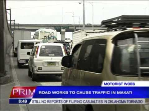 Road works to cause traffic in Makati