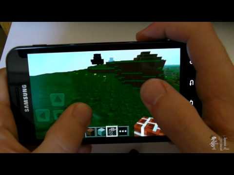 Minecraft Pocket Edition Mini Review - Samsung Galaxy SII