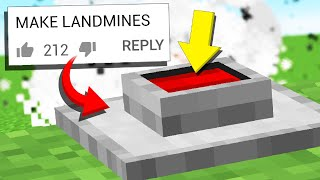 8 DEADLY Minecraft Traps in 1.14 (Comments to Crafting Recipes #7)