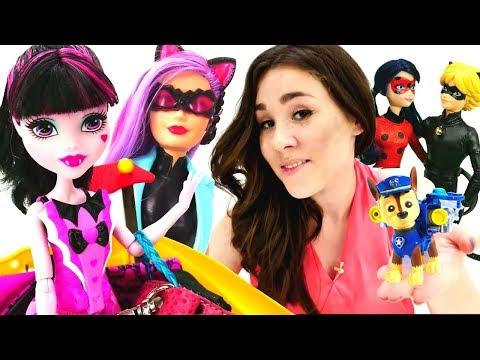 #ЛедиБаг и Супер Кот #ВсеСерииПодряд! Сборник с Валей #ИгрыДляДевочек в куклы