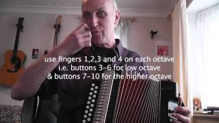Learning To Play The D/G Melodeon Video Blog 3 - Winster Gallop | The Waters Of Tyne