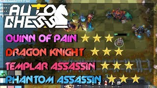 Queen of Pain 3 + Phantom Assassin 3 + Templar Asassin 3 vs Dragon Knigh 3 - 47 ROUND AuTo Chess