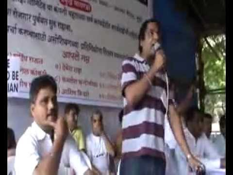 Super Hit Azad Maidan Protest : Farrata Speach By Tv Actor Sukesh Anand