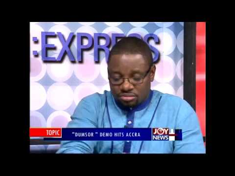 Dumsor Demo Hits Accra - PM Express on Joy News (18-2-15)