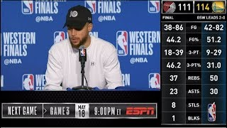 Stephen Curry Press Conference | Western Conference Finals Game 2