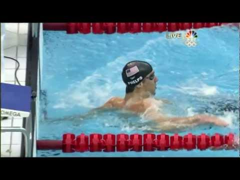 Michael Phelps 6th Gold 2008 Beijing Olympics Swimming Men's 200m Medley