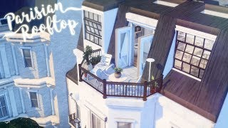 Parisian Rooftop Apartment 🥐 🍷 | The Sims 4 | Speed Build | CC Free + Download Links