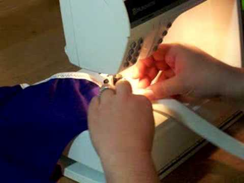 Cloth Diaper Sewing: Fold Over  Fold Over Elastic. 1