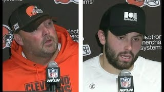 Freddie Kitchens & Baker Mayfield post game Browns def. Jets 23-3