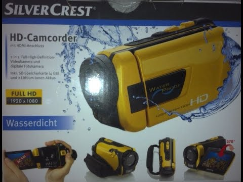 Unboxing the silvercrest Full HD Camcorder