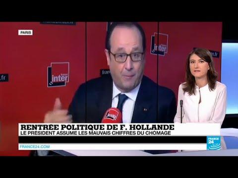 François Hollande assume les mauvais chiffres du chômage et défend ses réformes