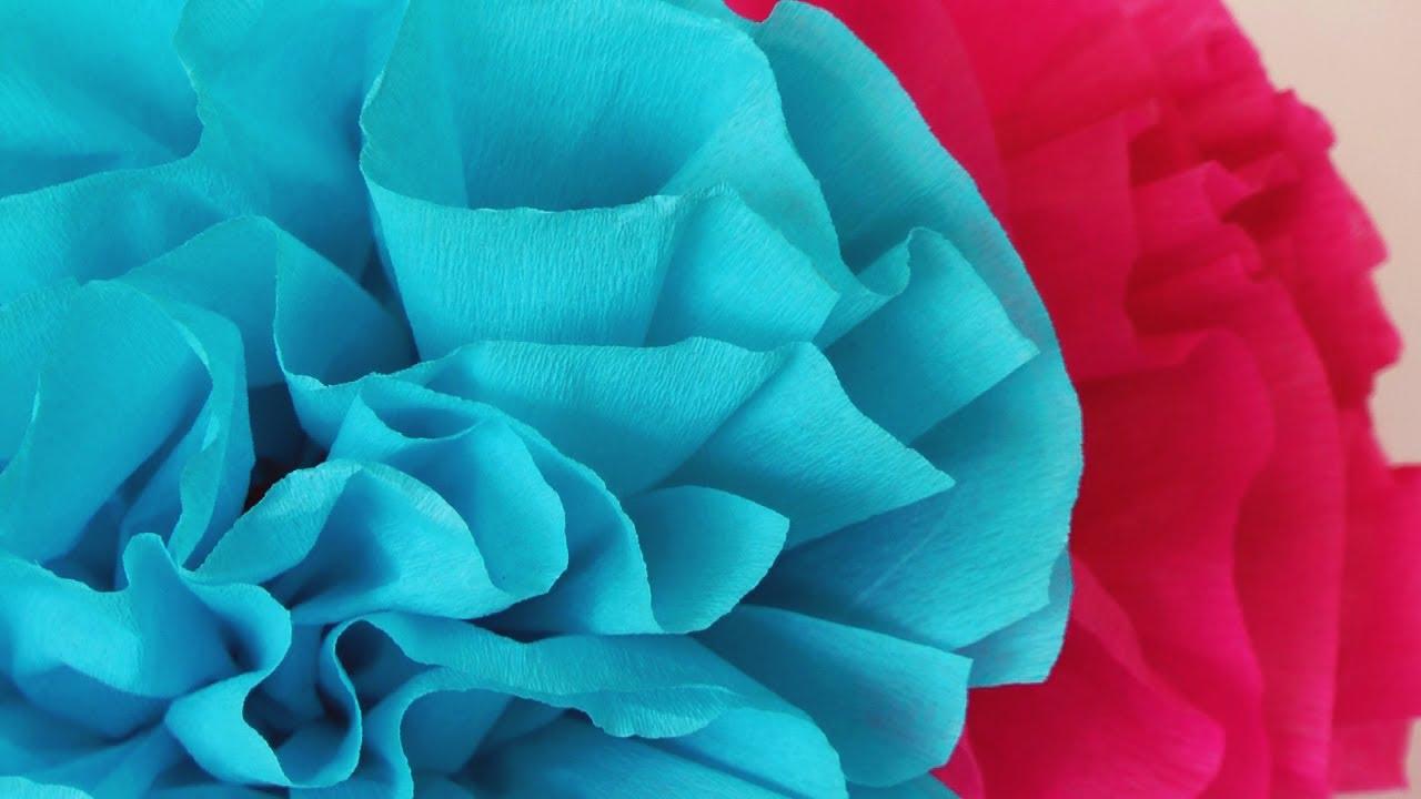 C mo hacer flores de papel crepe f ciles manualidades - Como hacer flores ...