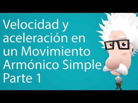 Velocidad y aceleración en un Movimiento Armónico Simple. Parte 1