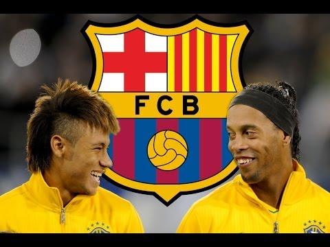 Ronaldinho & Neymar JR ● BARCELONA SAMBA   HD  