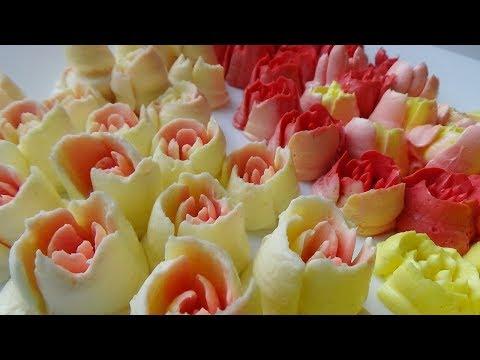 "Тюльпаны из крема  Насадки ""Тюльпан"" Russian tulip piping"