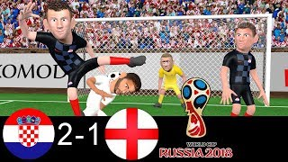 Croatia vs England 2-1 | World Cup Semi-final 2018 🏆 | Parody Goals ⚽ Trippier ⚽ Perisic ⚽ Mandzukic