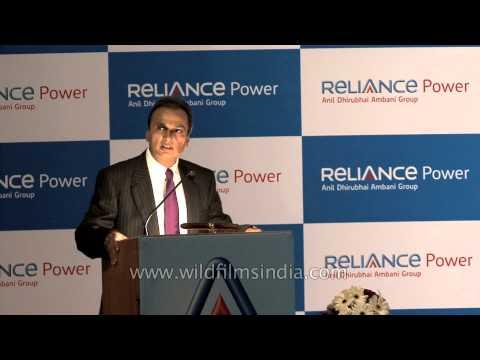 Anil Ambani speaks during Reliance Power's IPO listing ceremony - Mumbai
