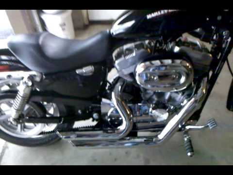 06 sportster 883l w 1200 10:1 kit. vance and hines short shots.