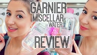 GARNIER MICELLAR CLEANSING WATER REVIEW | BIODERMA DUPE ?