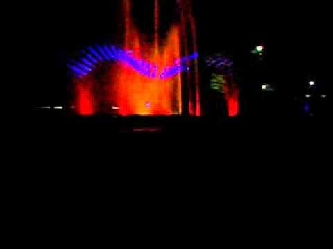 Laser Light show in JogFalls, Sagara