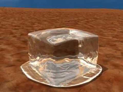 Cube Melting Melting Ice Cube
