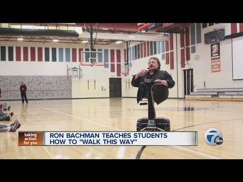 """Ron Bachman teaches students how to """"Walk This Way"""""""