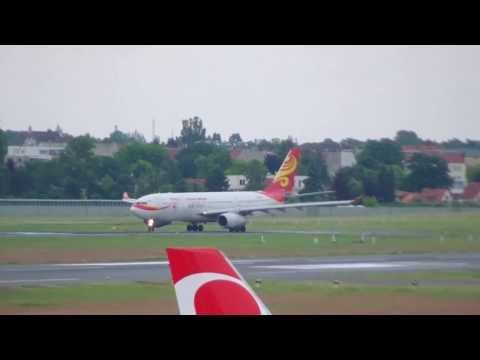 Hainan Airlines Airbus A330-200 B-6133 Pushback u. Takeoff / Air Berlin Airbus A320 OE-LEY SHARKLETS