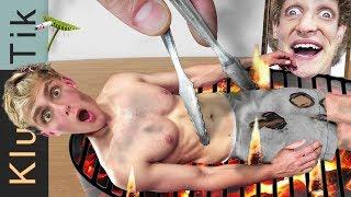 JAKE PAUL ROAST!!! Kluna Tik Dinner #82   ASMR eating sounds no talk