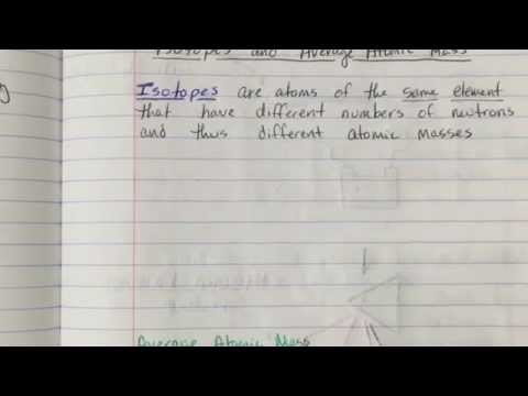 Interactive Notebook Pg. 17 - Isotopes and Average Atomic Mass