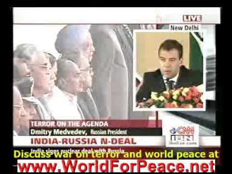 Russia support India in war against terror