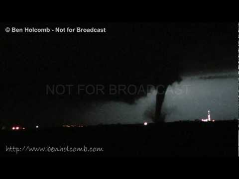 Video of a Nocturnal tornado in Grant County, Oklahoma near the town of Medford on the evening of April 30, 2012. Storms fired along an outflow boundary from previous nights storms which had...