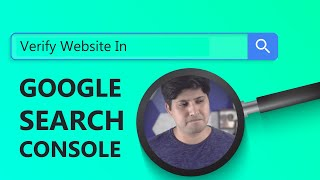 How To Verify Website In Google Search Console | गूगल सर्च कंसोल