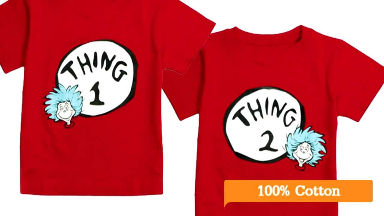 Dr Seuss Thing 1 And Thing 2 Tee Shirt Pair By Think Twins