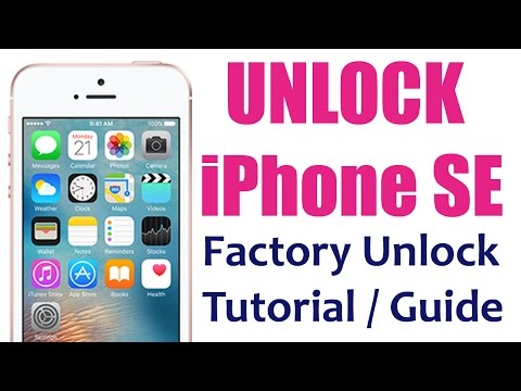 How to Unlock your iPhone SE for use with another Carrier Sim Card