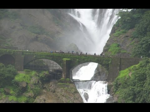 Dudhsagar Falls Seen From Amaravati Express At Goa Tourism Video