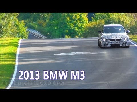 Nurburgring 2013 BMW M3 Prototype (F80) testing on the Nordschleife