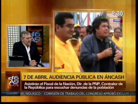 Heriberto Benitez advierte posible intervencion a Región Ancash