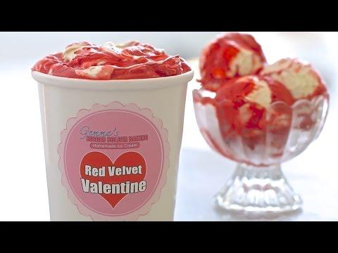 Red Velvet Homemade Ice Cream (No Machine) for Valentine's Day & Thank You!
