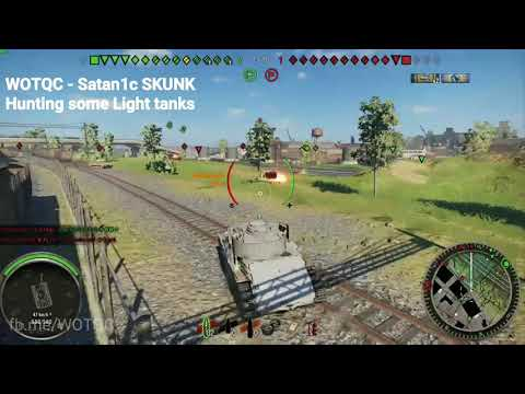 WOTQC - Satan1c SKUNK - World of Tanks xbox - Great light tanks hunting session