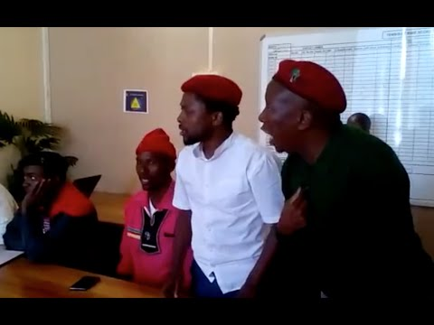 You are useless, people are dying here - Malema loses temper with Tembisa police