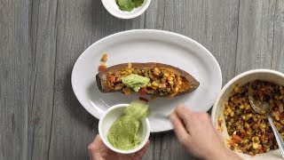 Study Snacks: How to Make Mexican Stuffed Sweet Potato