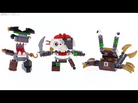 LEGO Mixels Series 8 Pyrratz review: Sharx. Skulzy. & Lewt!