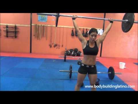 Karen Santamaria preparandose para Copa BodyBuildingLatino 2012