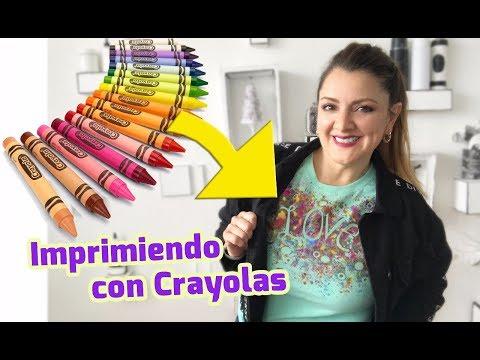 Imprimiendo Playeras con Crayolas 🖍Chuladas Creativas