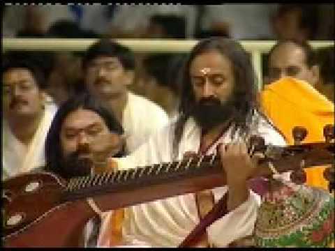 Sri Sri playing the Veena